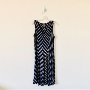 Chelsea & Theodore Dye Dipped striped Maxi dress